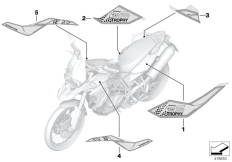 Goto diagram: BMW Classic Motorrad Modell F 800 GS 17 (0B27)( BRA ), Category 51.14 Stick-on label :: Diagram: 51_4391