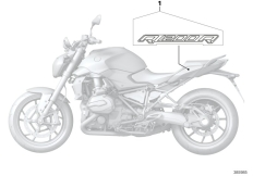 Goto diagram: BMW Classic Motorrad Modell R 1200 R (0A04, 0A14)( ECE ), Category 51.14 Stick-on label :: Diagram: 51_4393