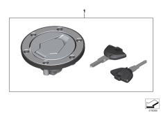 Goto diagram: BMW Classic Motorrad Modell G 310 GS (0G22)( BRA ), Category 51.25 Filler cap :: Diagram: 51_4605