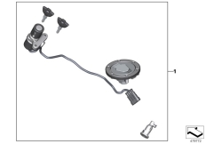 Goto diagram: BMW Classic Motorrad Modell G 310 GS (0G02, 0G12)( USA ), Category 51.25 Unified locking, mechanical :: Diagram: 51_5012