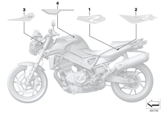 Goto diagram: BMW Classic Motorrad Modell F 800 R 17 (0B54, 0B64)( ECE ), Category 51.14 Decor and lettering :: Diagram: 51_5115
