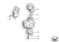 Goto diagram: BMW Classic Motorrad Modell F 700 GS (0B21)( BRA ), Category 51.25 Ignition switch and mounting parts :: Diagram: 51_5341