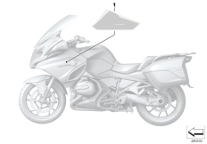 Goto diagram: BMW Classic Motorrad Modell R 1200 RT (0A03, 0A13)( USA ), Category 51.14 Stick-on label :: Diagram: 51_5461