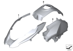 Goto diagram: BMW Classic Motorrad Modell R 1200 GS 17 (0A51, 0A61)( USA ), Category 51.20 Painted parts YNB5 light-white solid :: Diagram: 51_5507