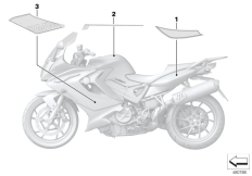 Goto diagram: BMW Classic Motorrad Modell F 800 GT 17 (0B53, 0B63)( USA ), Category 51.14 Decor and lettering :: Diagram: 51_5588