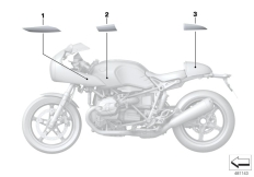 Goto diagram: BMW Classic Motorrad Modell R nineT Racer (0J21, 0J23)( USA ), Category 51.14 Stick-on label :: Diagram: 51_5618