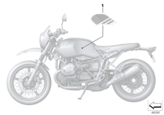 Goto diagram: BMW Classic Motorrad Modell R nineT Urban G/S (0J41, 0J43)( ECE ), Category 51.14 Stick-on label :: Diagram: 51_5942