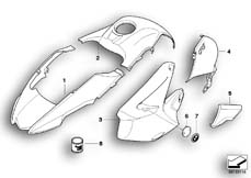 Goto diagram: BMW Classic Motorbike Model R 1200 GS 04 (0307,0317)( ECE ), Category 51.20 Painted parts 933 granite-grey :: Diagram: 51_6035