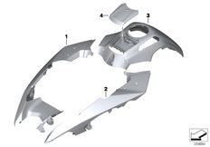 Goto diagram: BMW Classic Motorbike Model R 1200 GS Adve. (0A42)( BRA ), Category 51.20 Painted parts YN1F light white/co.blue :: Diagram: 51_6437