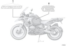 Goto diagram: BMW Classic Motorbike Model R 1200 GS Adve. (0A42)( BRA ), Category 51.14 Stick-on label :: Diagram: 51_6438