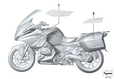 Goto diagram: BMW Classic Motorrad Modell R 1200 RT (0A03, 0A13)( USA ), Category 51.14 Stick-on label :: Diagram: 51_6484