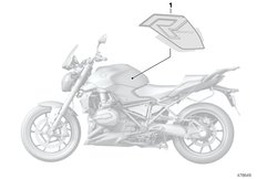 Goto diagram: BMW Classic Motorrad Modell R 1200 R (0A04, 0A14)( ECE ), Category 51.14 Stick-on label :: Diagram: 51_6494