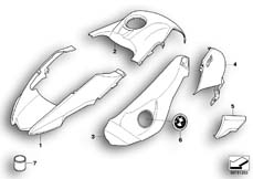 Goto diagram: BMW Classic Motorrad Modell R 1200 GS Adve. 08 (0380,0390)( USA ), Category 51.20 Painted parts YN15 magma-rot :: Diagram: 51_6873