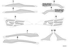 Goto diagram: BMW Classic Motorrad Modell G 310 GS (0G02, 0G12)( USA ), Category 51.14 Label WN1D pearl white :: Diagram: 51_7153