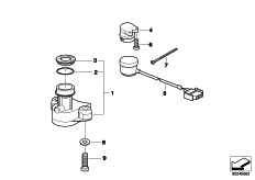 Goto diagram: BMW Classic Motorrad Modell G 650 GS Sertão (0136, 0146)( ECE ), Category 51.25 Ignition switch and mounting parts :: Diagram: 51_8385