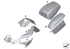 Goto diagram: BMW Classic Motorbike Model F 850 GS (0B29)( BRA ), Category 51.20 Painted parts WN99 glacier-silver met. :: Diagram: 51_8401