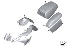 Goto diagram: BMW Classic Motorrad Modell F 750 GS (0B28)( BRA ), Category 51.20 Painted parts U751 alpin-weiss 3 :: Diagram: 51_8403