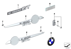 Goto diagram: BMW Classic Motorbike Model K 1600 GTL 17 (0F02, 0F12)( USA ), Category 51.14 Lettering :: Diagram: 51_8482