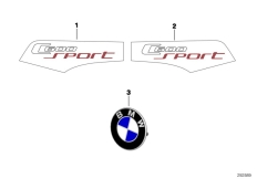 Goto diagram: BMW Classic Motorbike Model C 600 Sport (0131, 0132)( ECE ), Category 51.14 Stick-on label :: Diagram: 51_8787