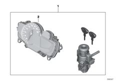 Goto diagram: BMW Classic Motorrad Modell C 650 Sport 16 (0C04, 0C14)( USA ), Category 51.25 One-key locking :: Diagram: 51_8835