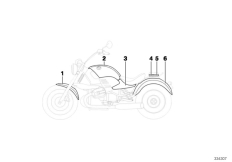 Goto diagram: BMW Classic Motorbike Model R 1200 C Indep. 00 (0405,0433)( ECE ), Category 51.05 Primed parts :: Diagram: 51_9317