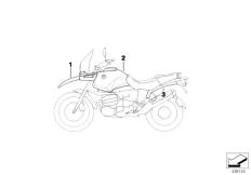 Goto diagram: BMW Classic Motorrad Modell R 1150 GS 00 (0415,0495)( ECE ), Category 51.20 Primed parts :: Diagram: 51_9357