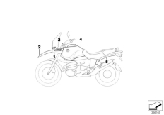 Goto diagram: BMW Classic Motorbike Model R 1100 GS 94 (0404,0409)( USA ), Category 51.20 Primed parts :: Diagram: 51_9359