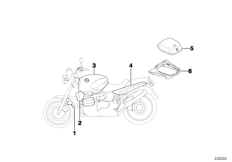 Goto diagram: BMW Classic Motorrad Modell R 1100 R 94 (0402,0407)( USA ), Category 51.05 Primed parts :: Diagram: 51_9361