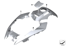 Goto diagram: BMW Classic Motorbike Model R 1200 GS Adve. (0A42)( BRA ), Category 51.20 Painted parts U751 alpin-weiss 3 :: Diagram: 51_9640