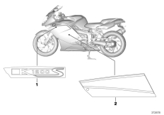Goto diagram: BMW Classic Motorbike Model K 1200 S (0581,0591)( ECE ), Category 51.14 Stick-on label :: Diagram: 51_9820