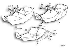 Goto diagram: BMW Classic Motorbike Model K 100 RS 83 (0502,0503,0513)( ECE ), Category 52.05 Seat bench :: Diagram: 52S1018