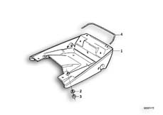 Goto diagram: BMW Classic Motorrad Modell K 100 RS 83 (0502,0503,0513)( USA ), Category 52.10 TAIL PART LOWER :: Diagram: 52S1027