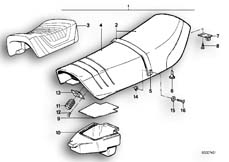 Goto diagram: BMW Classic Motorrad Modell R 80 G/S( ECE ), Category 52.05 Seat bench :: Diagram: 52_0982