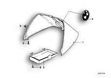 Goto diagram: BMW Classic Motorbike Model R65( USA ), Category 52.10 TAIL PART :: Diagram: 52_0985