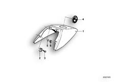 Goto diagram: BMW Classic Motorbike Model R65( USA ), Category 52.10 TAIL PART :: Diagram: 52_0986