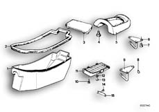 Goto diagram: BMW Classic Motorbike Model R90/6( ECE ), Category 52.05 DUAL SEAT-TOOL BOX :: Diagram: 52_0991