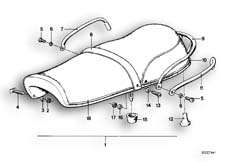 Goto diagram: BMW Classic Motorbike Model R50/5( ECE ), Category 52.05 Seat bench :: Diagram: 52_0992