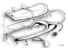 Goto diagram: BMW Classic Motorbike Model R 100 S( ECE ), Category 52.05 Double seat bench :: Diagram: 52_0993