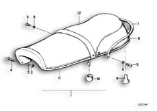 Goto diagram: BMW Classic Motorbike Model R 75 /7( ECE ), Category 52.05 Double seat bench black :: Diagram: 52_0998