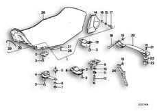 Goto diagram: BMW Classic Motorbike Model K 100 RS 83 (0502,0503,0513)( ECE ), Category 52.05 Seat bench :: Diagram: 52_1006