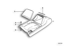Goto diagram: BMW Classic Motorbike Model K 100 RS 83 (0502,0503,0513)( ECE ), Category 52.05 TAIL PART UPPER :: Diagram: 52_1007