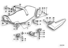 Goto diagram: BMW Classic Motorbike Model K 100 RS 83 (0502,0503,0513)( ECE ), Category 52.05 Seat bench :: Diagram: 52_1008