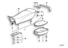 Goto diagram: BMW Classic Motorbike Model R 100 GS PD( ECE ), Category 52.05 Seat bench :: Diagram: 52_1019