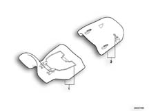 Goto diagram: BMW Classic Motorbike Model R 850 GS 95 (0403)( ECE ), Category 52.53 Adjustable seat bench :: Diagram: 52_1037
