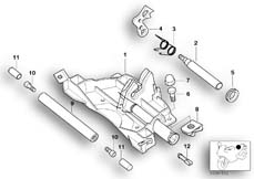 Goto diagram: BMW Classic Motorbike Model K 1200 GT 01 (0548,0558)( USA ), Category 52.53 Mounting parts for seat bench :: Diagram: 52_1047