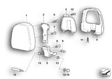 Goto diagram: BMW Classic Motorbike Model R 1200 C Indep. 00 (0405,0433)( ECE ), Category 52.53 SEAT PAD :: Diagram: 52_2258