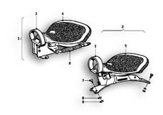 Goto diagram: BMW Classic Motorrad Modell R69 S( ECE ), Category 52.05 Seat bench :: Diagram: 52_2422