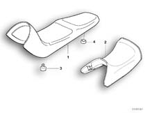 Goto diagram: BMW Classic Motorbike Model G 650 GS 09 (0178,0179)( ECE ), Category 52.53 Seat bench :: Diagram: 52_2636