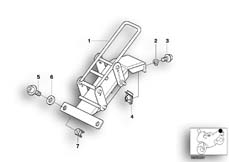 Goto diagram: BMW Classic Motorbike Model R 1150 RT 00 (0419,0499)( USA ), Category 52.53 Dualseat lock mechanism for radio :: Diagram: 52_2655