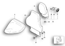 Goto diagram: BMW Classic Motorrad Modell C1 (0191)( ECE ), Category 52.53 Driver's seat backrest :: Diagram: 52_2717